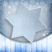 Christmas background - blue star — Stock Photo