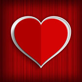 Valentines Day background - red paper heart — Stock Photo