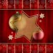 Christmas stars and baubles — Stock Photo