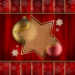 Stockfoto: Christmas stars and baubles