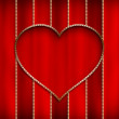 Valentine's Day - Golden shape of heart — Stock Photo