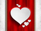 Valentines Day background - white hearts — Stock Photo