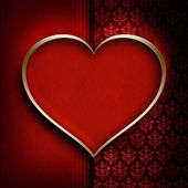 Valentine's Day background - red heart — Stock fotografie
