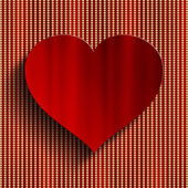 Valentine's Day background - red heart — Stock Photo