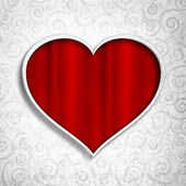 Valentin - modèle de fond de carte de voeux — Photo