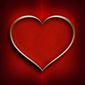 Valentine's Day background - shape of heart — Stock Photo