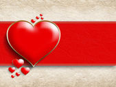Valentine's Day - background of greeting card template — Stockfoto