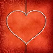 Alla hjärtans dag bakgrund - mall för gratulationskort — Stockfoto