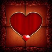 Valentine Day background template — Stock Photo