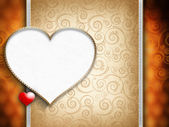 Greeting card template on Valentine's Day — Stock Photo