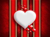 Valentinstag - Hintergrund der Grußkartenvorlage — Stockfoto