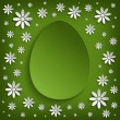Green Easter greeting card — Stock Photo