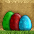 Happy Easter - Colored eggs — Stock Photo