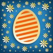 Happy Easter greeting card template — 图库照片