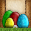 Stock Photo: Happy Easter greeting card template