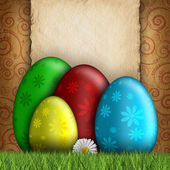 Happy Easter greeting card template — Stockfoto