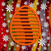 Simple shape of Easter egg on colored background — Photo