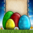 Happy Easter greeting card — Stock Photo #38952665