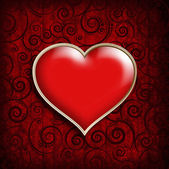 Valentine's Day Card background template — Stock Photo