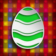 Shape of Easter egg on colored background — Stock Photo