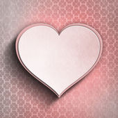 Valentine heart on patterned background — Stock Photo