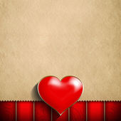 Valentine's Day background - red heart and blank space for text — Foto Stock