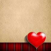 Valentine's Day background - red heart and blank space for text — Stock Photo