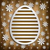Simple shape of Easter egg on brown background — Stok fotoğraf