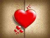Sfondo della cartolina modello - Valentino — Foto Stock