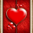 Valentine's Day - background of greeting card template — Stock Photo #39749733