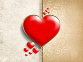 Valentine's Day - background of greeting card template — Stock Photo