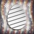 Stock Photo: Shape of Easter egg on grunge background