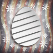 Shape of Easter egg on grunge background — Stock Photo