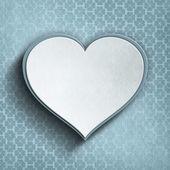 Valentin-Herz auf gemusterten Hintergrund — Stockfoto