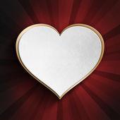 Coeur Saint-Valentin sur fond à motifs — Photo