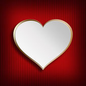 Valentines Day background - heart on patterned background — Stock Photo