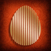 Happy Easter card template - shape of egg — Stock Photo
