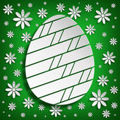 Simple forma de huevo de pascua en fondo verde — Foto de Stock