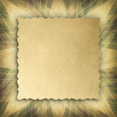 Blank paper sheet on abstract patterned background — Stock Photo