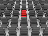 Red and black chairs — Stock Photo