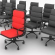 Stock Photo: Red and black chairs