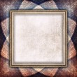 Blank paper sheet in picture frame on rosette background — Stock Photo