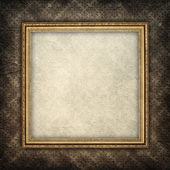 Template background - blank paper sheet in picture frame — Stock Photo