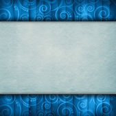 Double-layered background - blank paper sheet on retro pattern — Stock Photo