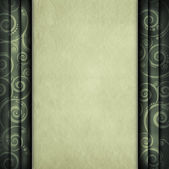 Blank paper sheet on retro pattern background — Stock Photo
