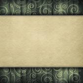 Dubbellaagse achtergrond - blanco papier blad op retro patroon — Stockfoto
