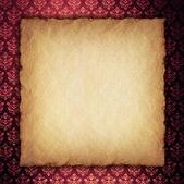 Blank paper sheet on wallpaper background — Foto Stock