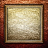 Picture frame on rough background — Stock Photo