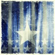 Pattern of stripes and stars on grunge background — Stock Photo