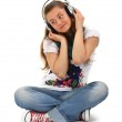 Teen enjoying music — Stock Photo #6574354